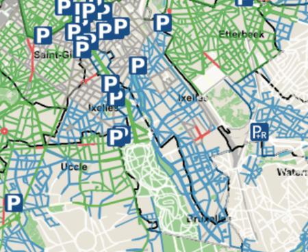 Parking zones Ixelles