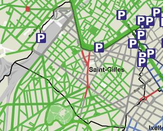 Parkeerzones in Sint-Gillis