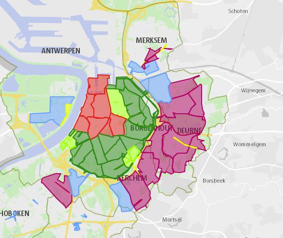 Parking zones in Antwerp